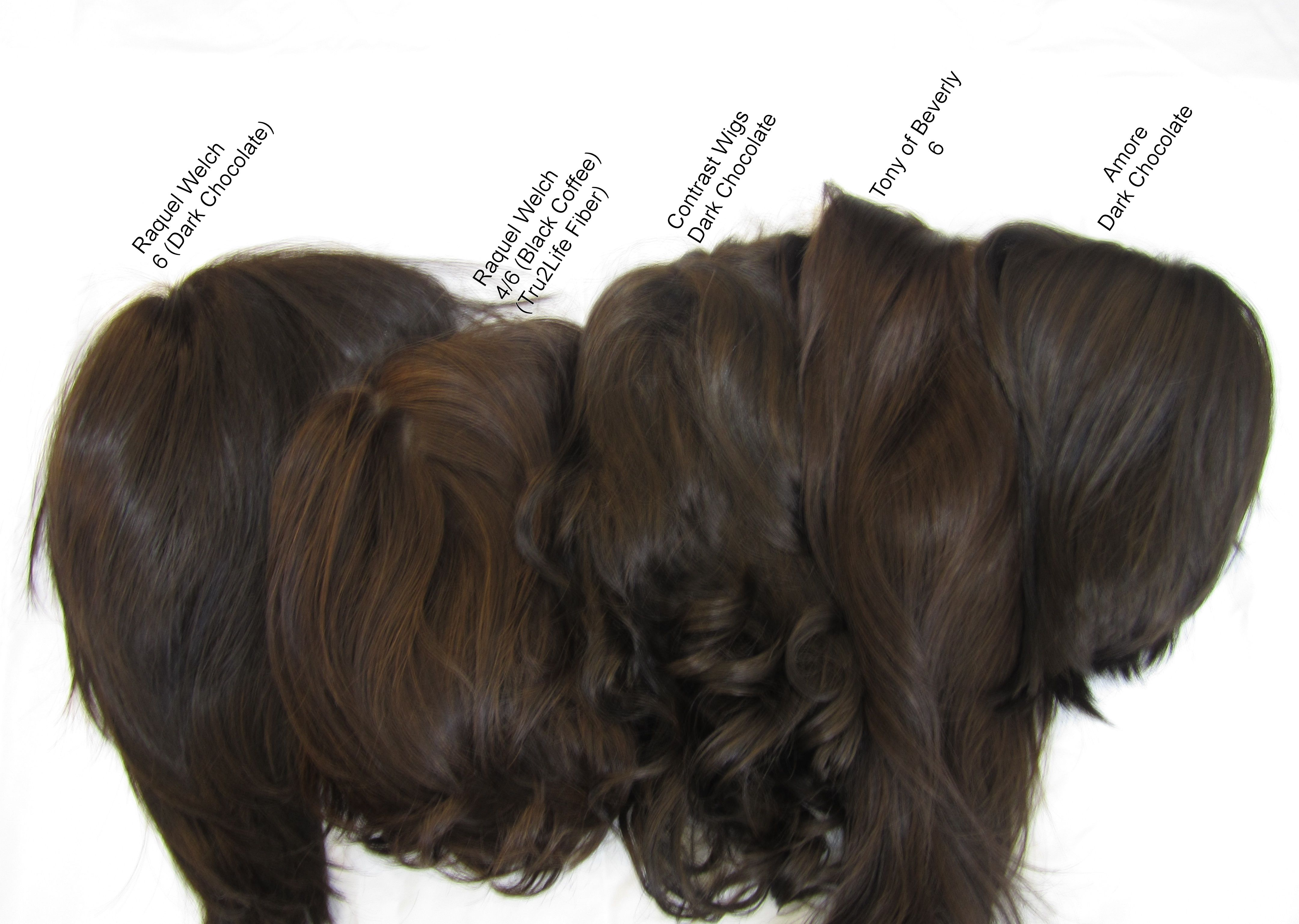 Wig color comparison pictures brunettes and redheads rene of group 8 nvjuhfo Gallery