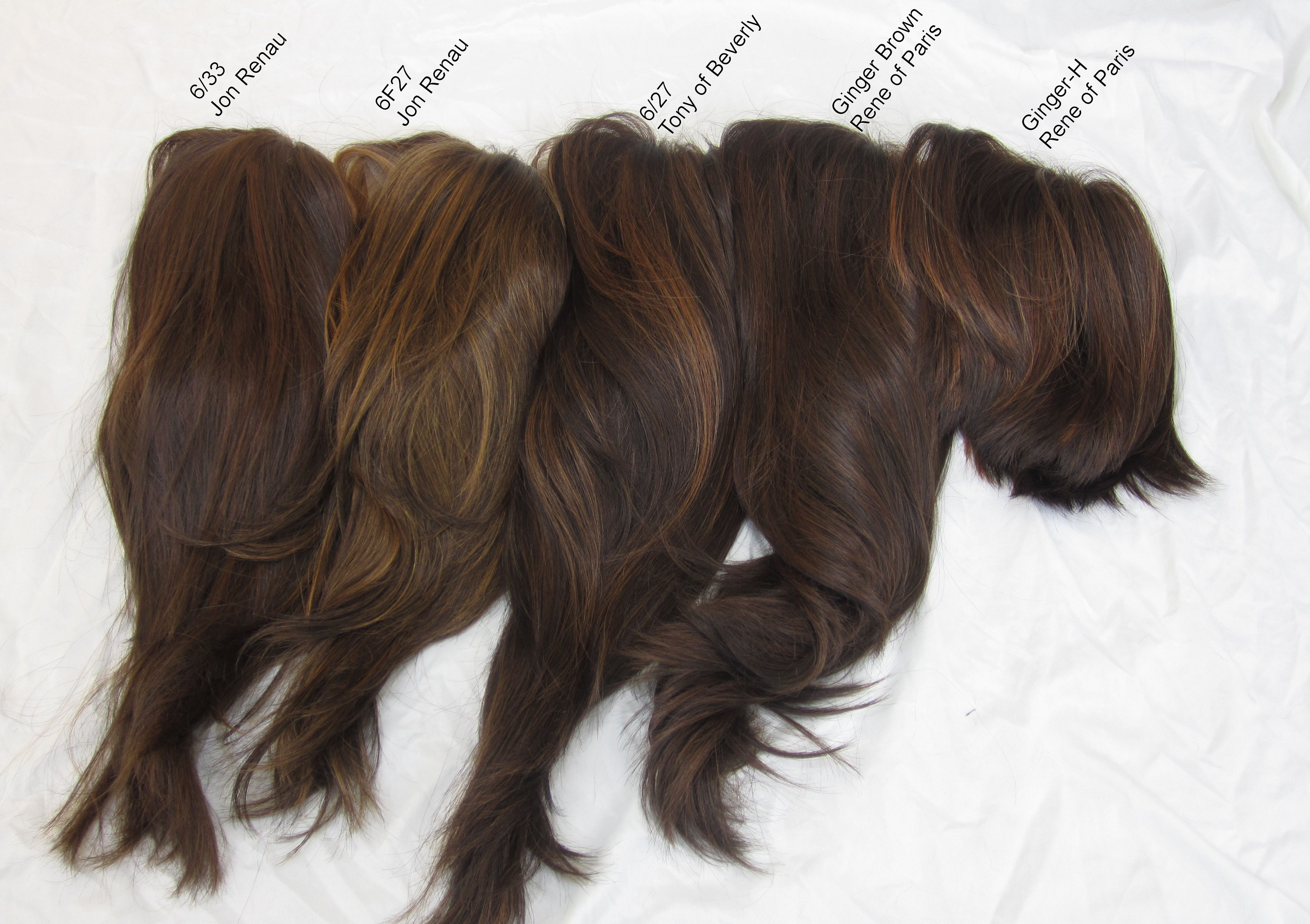 Wig Color Comparison Pictures Brunettes And Redheads